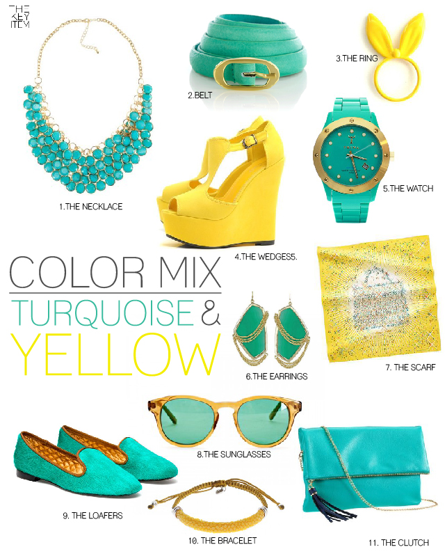 http://thekeyitem.com/2012/07/02/color-mix-turquoise-yellow/